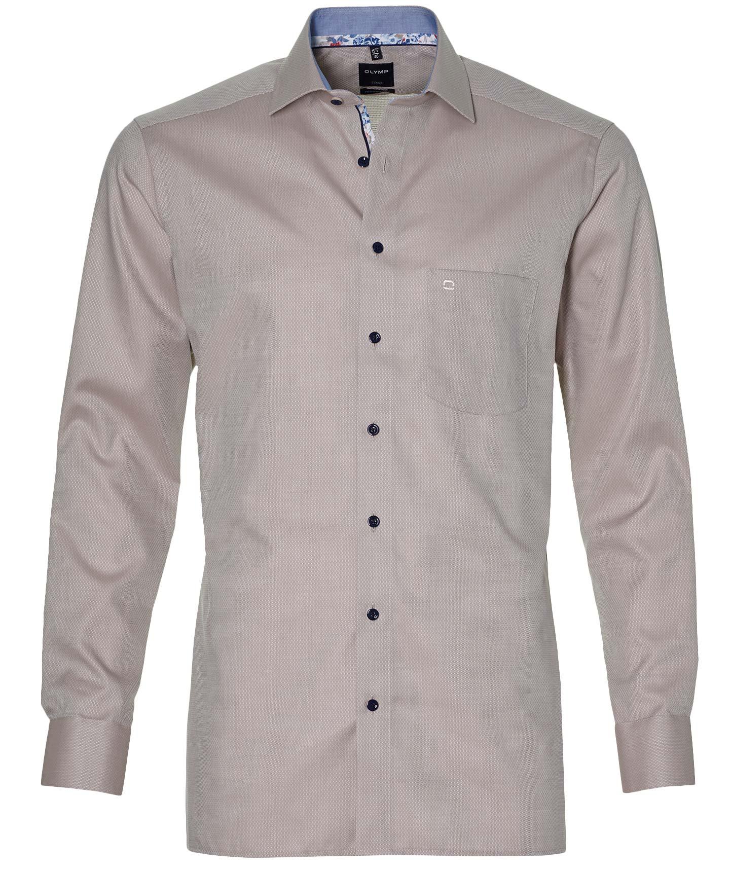 Olymp Overhemd - Modern Fit - Beige