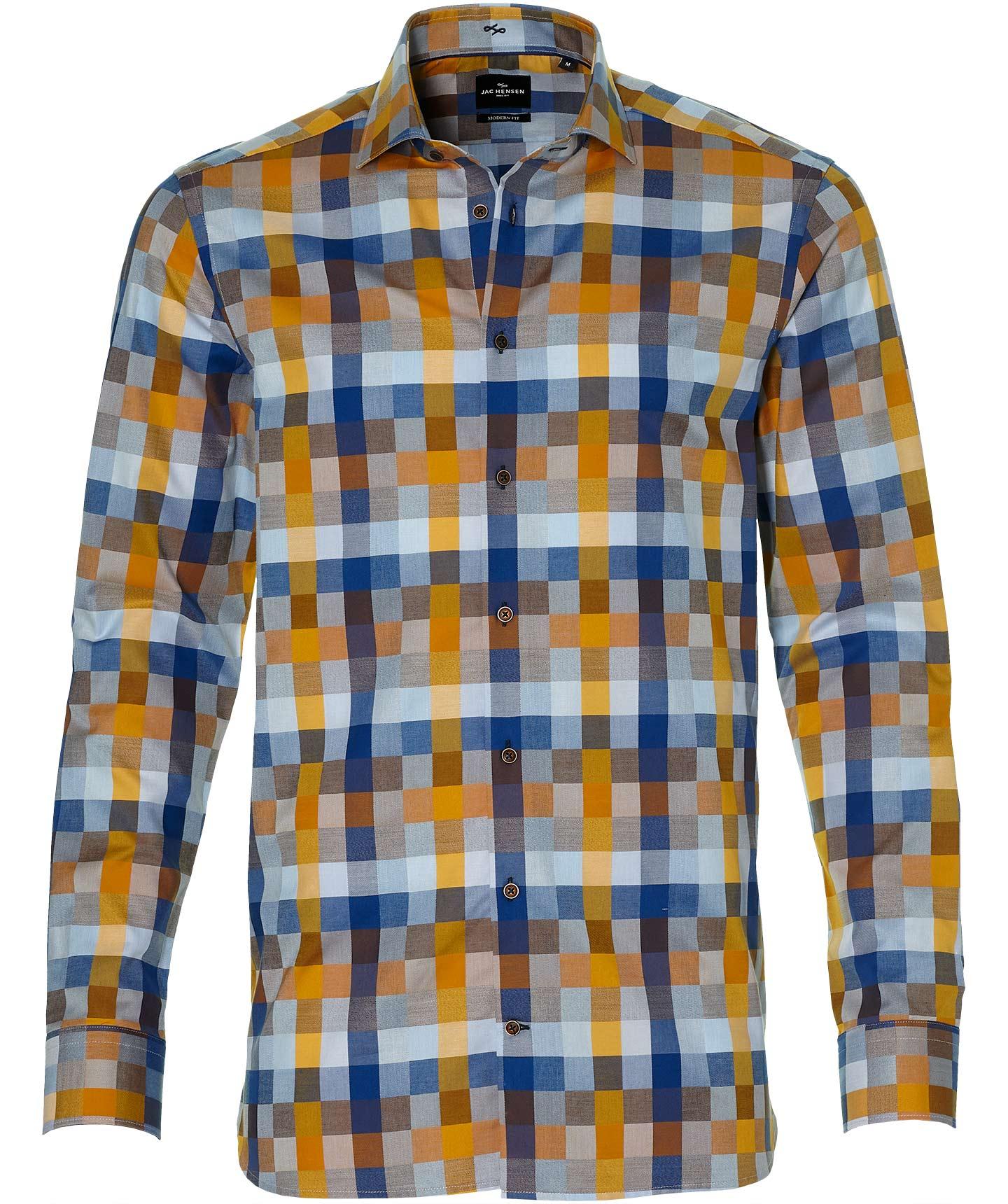 Jac Hensen Overhemd - Extra Lang - Oker