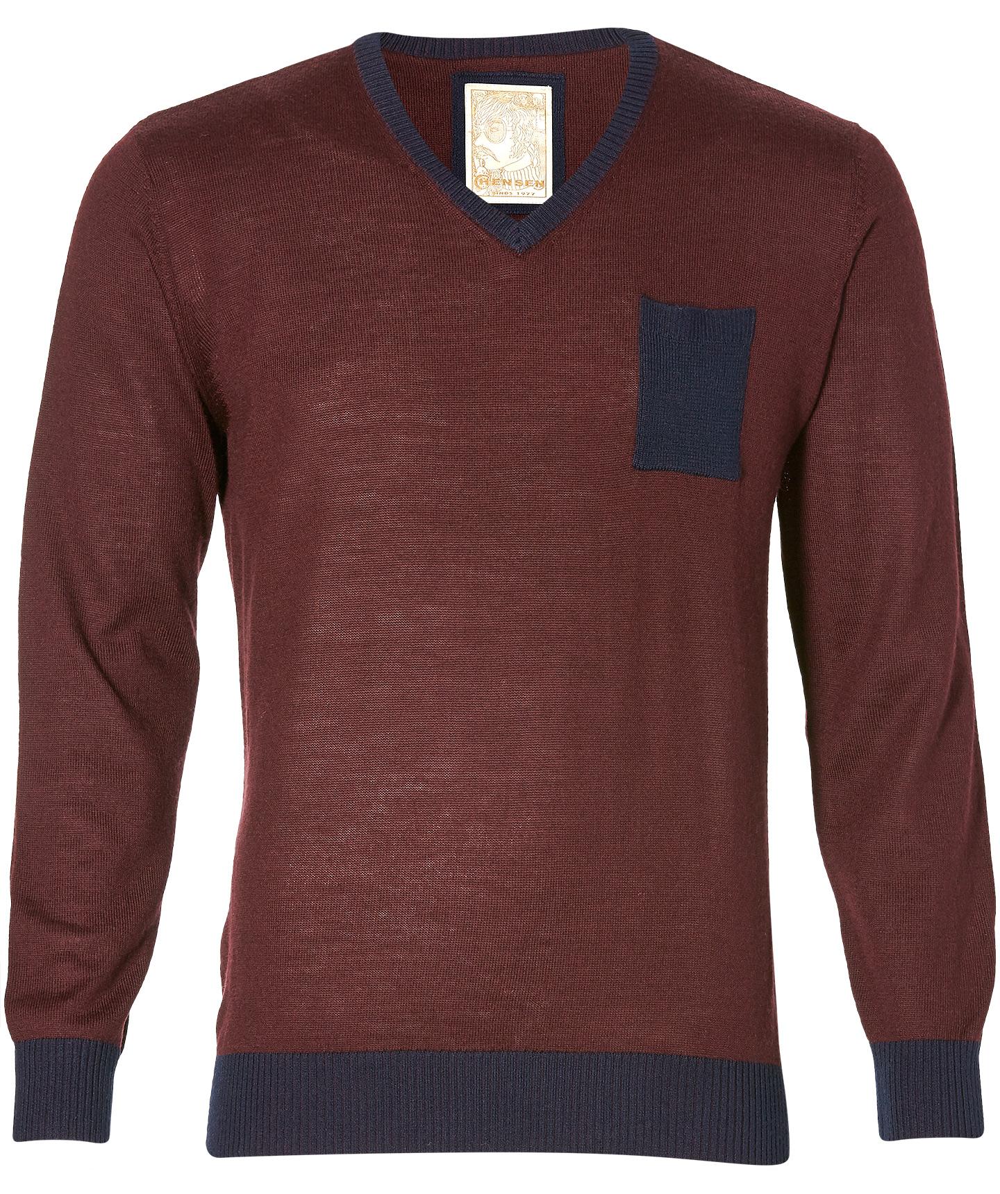 Hensen Sale -  Pullover - Slim Fit - Bordeaux