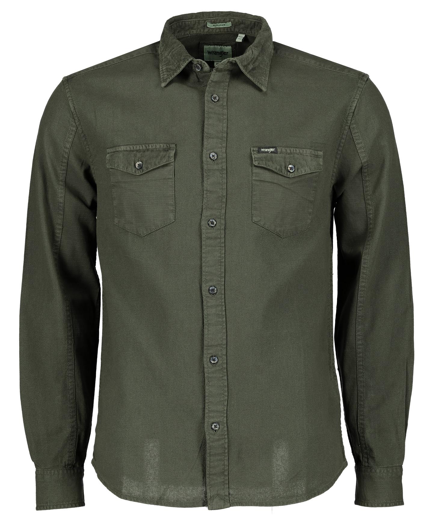 Wrangler Overhemd - Modern Fit - Groen