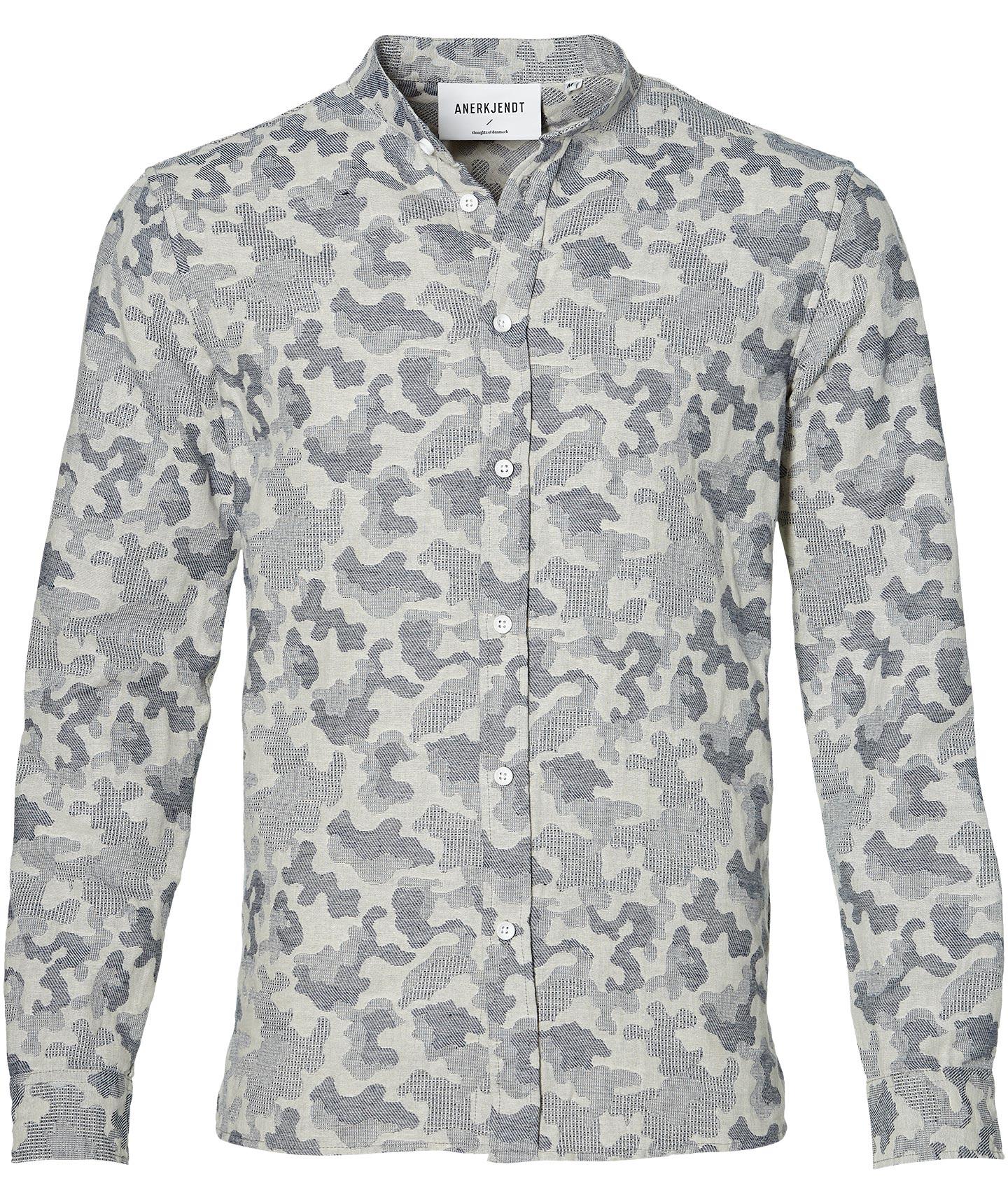 Afbeelding van Anerkjendt Overhemd Slim Fit Blauw L