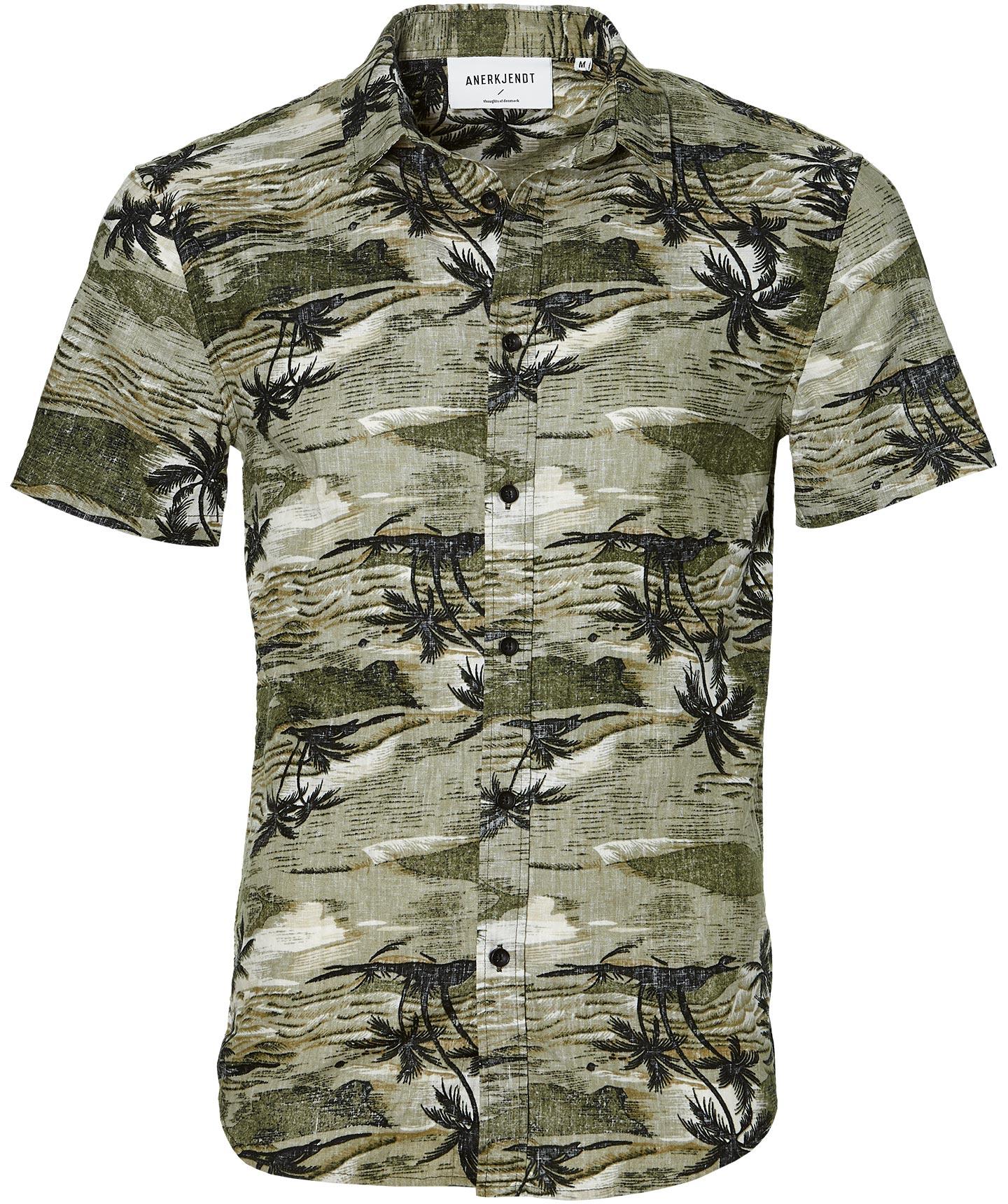 Afbeelding van Anerkjendt Overhemd Slim Fit Groen M