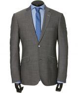 sale - Calabria kostuum - modern fit - grijs