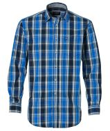 J.T. Ascott overhemd - regular fit - blauw