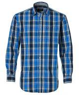 J.T. Ascott overhemd - regular fit - blauw