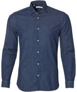 sale - Manuel Ritz overhemd - slim fit - blauw