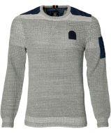 Lerros pullover - modern fit - grijs