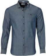 sale - Dstrezzed overhemd - slim fit - blauw