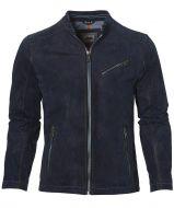 DNR jack leer - modern fit - blauw