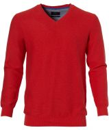 sale - Nils pullover - slim fit - rood