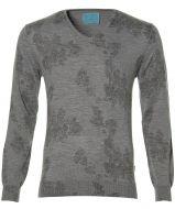 sale - British Indigo pullover - slim fit - grijs