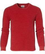 sale - Hensen pullover - slim fit - rood