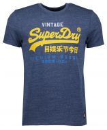 Superdry t-shirt - slim fit - blauw