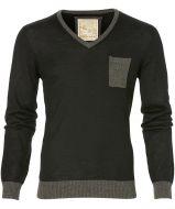 sale - Hensen pullover - slim fit - zwart