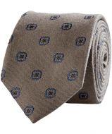 sale - Hensen stropdas - beige - bloem