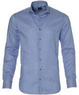 Nils overhemd - bodyfit - blauw