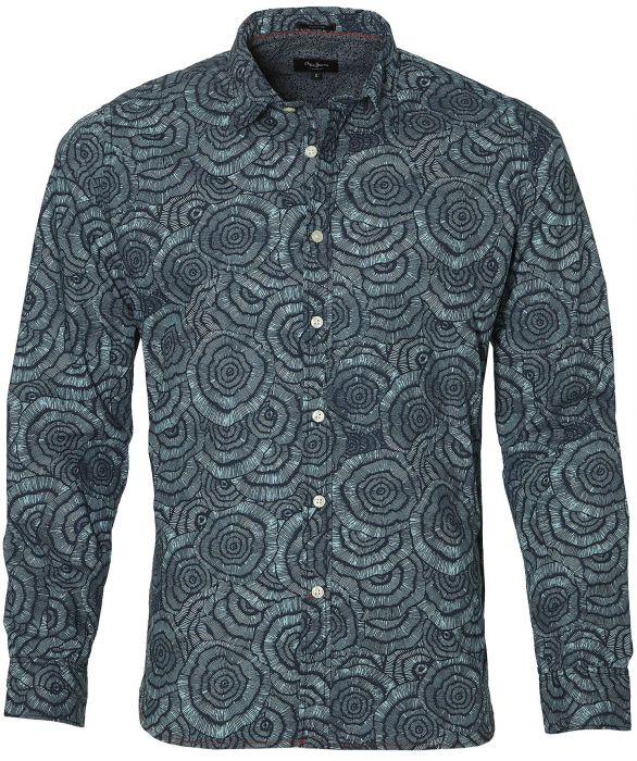 Pepe Jeans overhemd slim fit blauw XXL