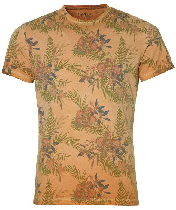 Pepe Jeans t shirt slim fit oranje | Herenkleding
