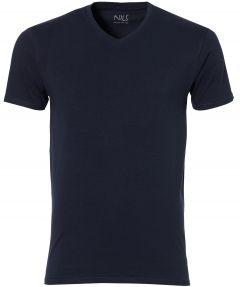 Nils T-shirt v-hals - extra lang - blauw