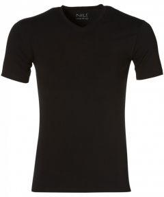 Nils T-shirt v-hals - slim fit - zwart