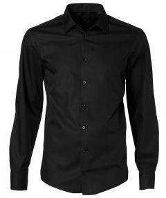 Venti overhemd extra lange mouw - zwart