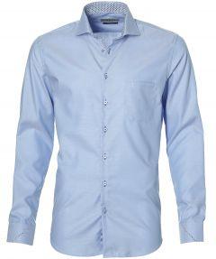 sale - Ledub overhemd - extra lang - blauw