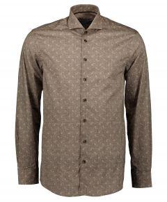 Ledub overhemd - modern fit - bruin