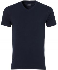 Jac Hensen T-shirt v-hals - extra lang - blau