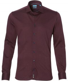 sale - British Indigo overhemd - slim fit - rood