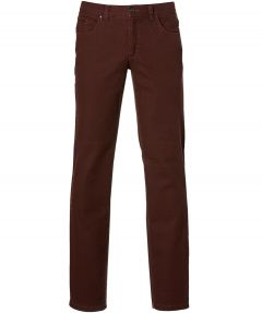 sale - Calabria broek - modern fit - bordeaux