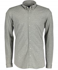 Nils overhemd - body fit - grijs