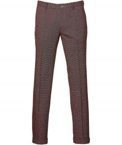 sale - British Indigo pantalon - slim fit - rood