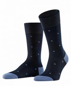 Falke sokken - dot - blauw