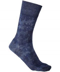 Falke sokken - Brickwall - blauw