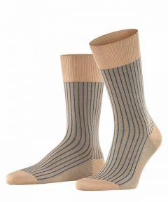 Falke sokken - Oxford Stripe - beige