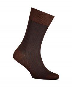 Falke sokken - Oxford Stripes - bruin