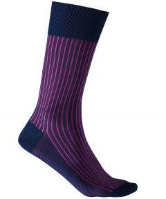 Falke sokken - Oxford stripes - fuchsia