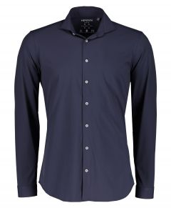 Hensen overhemd - body fit - blauw