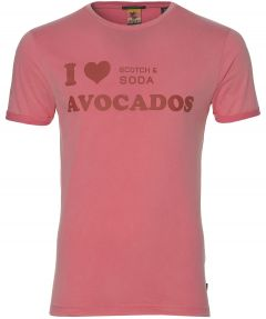 Scotch & Soda t-shirt - slim fit - roze