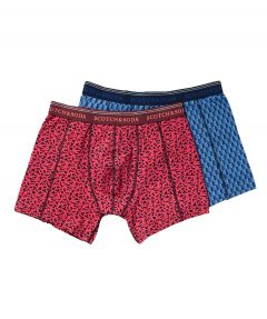 Scotch & Soda boxershorts 2 pack - blauw