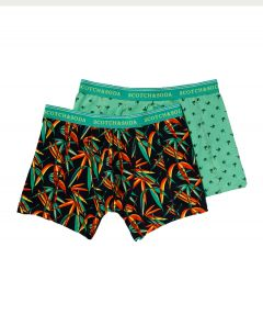 Scotch & Soda boxershorts 2 pack - groen