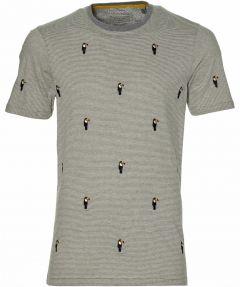 Ted Baker t-shirt - extra lang - grijs