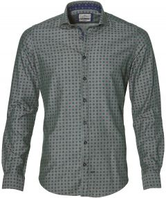 sale - Hensen overhemd - slim fit - groen