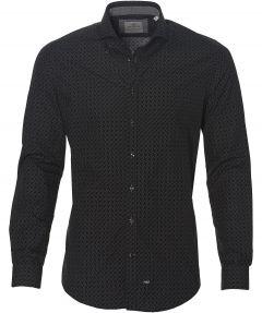 Hensen overhemd - slim fit - zwart