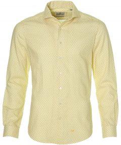 Hensen overhemd - body fit - geel