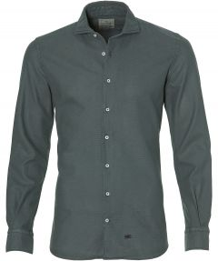 Hensen overhemd - bodyfit - groen