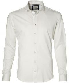 Hensen overhemd - bodyfit - wit