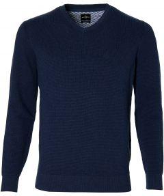 Jac Hensen pullover - extra lengte - blauw