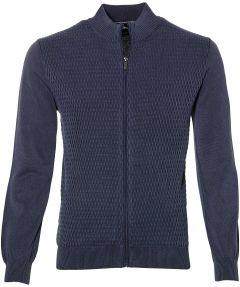 sale - Jac Hensen vest - extra lang - blauw
