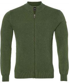 sale - Jac Hensen vest - extra lang - groen